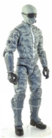 "MTF Male Trooper with Masked Goggles & Breather Head GRAY CAMO ""Urban-Ops"" Version BASIC - 1:18 Scale Marauder Task Force Action Figure"