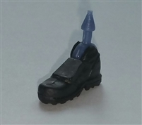 "Footwear: Right Black Boot with Gray Armor - 1:18 Scale MTF Accessory for 3-3/4"" Action Figures"