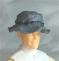 "Headgear: Boonie Hat GRAY Version - 1:18 Scale Modular MTF Accessory for 3-3/4"" Action Figures"
