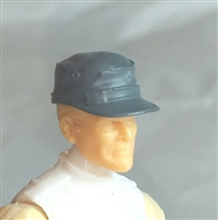 "Headgear: Fatigue Cap GRAY Version - 1:18 Scale Modular MTF Accessory for 3-3/4"" Action Figures"