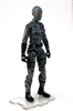 "MTF Female Valkyries with Balaclava Head GRAY Camo ""Urban-Ops"" Version BASIC - 1:18 Scale Marauder Task Force Action Figure"