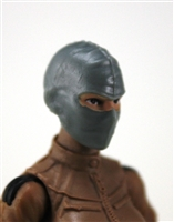 "Female Head: Balaclava Mask GRAY Version - 1:18 Scale MTF Valkyries Accessory for 3-3/4"" Action Figures"