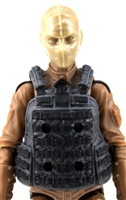 "Female Vest: Utility Type Gray Version - 1:18 Scale Modular MTF Valkyries Accessory for 3-3/4"" Action Figures"