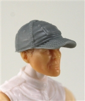 "Headgear: Baseball Cap GRAY Version - 1:18 Scale Modular MTF Accessory for 3-3/4"" Action Figures"