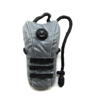 "Camel Hydration Pack: GRAY Version - 1:18 Scale Modular MTF Accessory for 3-3/4"" Action Figures"
