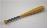 Baseball Bat: Wood color with GRAY handle grip - 1:18 Scale Weapon Accessory for 3 3/4 Inch Action Figures
