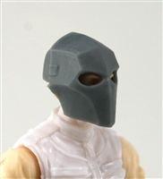"Armor Mask: GRAY Version - 1:18 Scale Modular MTF Accessory for 3-3/4"" Action Figures"