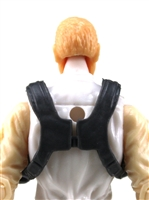 "Male Vest: Shoulder Rig GRAY Version - 1:18 Scale Modular MTF Accessory for 3-3/4"" Action Figures"