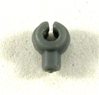 """C-Clip"" Universal Modular Mounting Peg: Gray Version - 1:18 Scale MTF Accessory for 3 3/4 Inch Action Figures"