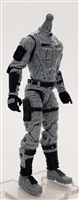"MTF Male Trooper Body WITHOUT Head GRAY with Black ""Tech-Ops"" CLOTH Legs (No Leg Armor) - 1:18 Scale Marauder Task Force Action Figure"