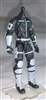"MTF Male Trooper Body WITHOUT Head BLACK with GRAY ""Tech-Ops"" Version BASIC - 1:18 Scale Marauder Task Force Action Figure"