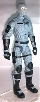 "MTF Male Trooper with Balaclava Head GRAY ""Tech-Ops"" Version BASIC - 1:18 Scale Marauder Task Force Action Figure"