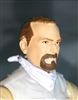 "Male Head: ""Trooper"" Light Skin Tone with BROWN GOATEE - 1:18 Scale MTF Accessory for 3-3/4"" Action Figures"