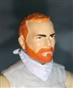 "Male Head: ""Trooper"" Light Skin Tone with RED BEARD - 1:18 Scale MTF Accessory for 3-3/4"" Action Figures"