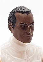 "Male Head: ""Trooper"" DARK Skin Tone with Black Hair - 1:18 Scale MTF Accessory for 3-3/4"" Action Figures"