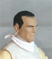 "Male Head: ""Trooper"" Medium Skin Tone with Black Hair - 1:18 Scale MTF Accessory for 3-3/4"" Action Figures"