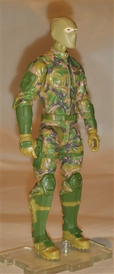"MTF Male Trooper with Balaclava Head Tan/Green/Brown Camo ""Recon-Ops"" WITH Armor - 1:18 Scale Marauder Task Force Action Figure"