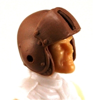 "Headgear: Brown Flight Helmet - 1:18 Scale Modular MTF Accessory for 3-3/4"" Action Figures"