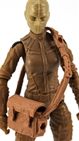 "Satchel Case with Strap: BROWN Version - 1:18 Scale Modular MTF Accessory for 3-3/4"" Action Figures"