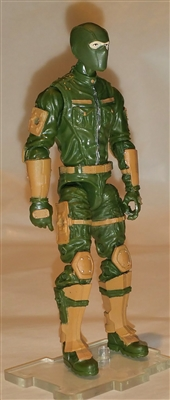 "MTF Male Trooper with Balaclava Head GREEN & Brown ""Range-Ops"" Version BASIC - 1:18 Scale Marauder Task Force Action Figure"