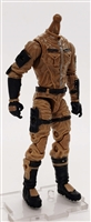 "MTF Male Trooper Body WITHOUT Head BROWN ""Terra-Ops"" CLOTH Legs (No Leg Armor) - 1:18 Scale Marauder Task Force Action Figure"