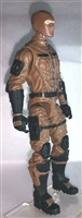 "MTF Male Trooper with Balaclava Head BROWN ""Terra-Ops"" Version BASIC - 1:18 Scale Marauder Task Force Action Figure"
