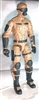 "MTF Male Trooper with Masked Goggles & Breather Head BROWN ""Terra-Ops"" Version BASIC - 1:18 Scale Marauder Task Force Action Figure"