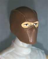 "Male Head: Balaclava Mask BROWN Version - 1:18 Scale MTF Accessory for 3-3/4"" Action Figures"
