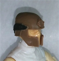 "Headgear: Tactical Helmet BROWN Version - 1:18 Scale Modular MTF Accessory for 3-3/4"" Action Figures"