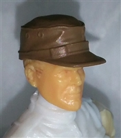 "Headgear: Fatigue Cap BROWN Version - 1:18 Scale Modular MTF Accessory for 3-3/4"" Action Figures"