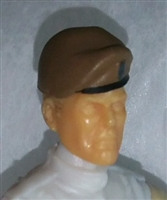 "Headgear: Beret BROWN Version - 1:18 Scale Modular MTF Accessory for 3-3/4"" Action Figures"