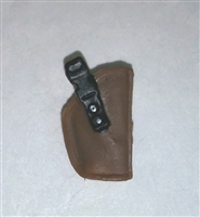 "Pistol Holster: Small  Right Handed BROWN Version - 1:18 Scale Modular MTF Accessory for 3-3/4"" Action Figures"