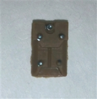 "Armor Panel: Large Size BROWN Version - 1:18 Scale Modular MTF Accessory for 3-3/4"" Action Figures"