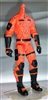 "MTF Male Trooper Body WITHOUT Head ORANGE ""Hazard-Ops"" Version BASIC - 1:18 Scale Marauder Task Force Action Figure"