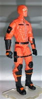 "MTF Male Trooper with Balaclava Head ORANGE ""Hazard-Ops"" Version BASIC - 1:18 Scale Marauder Task Force Action Figure"