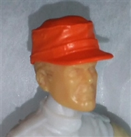 "Headgear: Fatigue Cap ORANGE Version - 1:18 Scale Modular MTF Accessory for 3-3/4"" Action Figures"