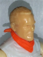 "Headgear: Standard Neck Scarf ORANGE Version - 1:18 Scale Modular MTF Accessory for 3-3/4"" Action Figures"