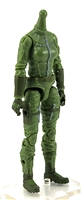 "MTF Female Valkyries Body WITHOUT Head LIGHT GREEN with GREEN ""Flight-Ops"" Version BASIC - 1:18 Scale Marauder Task Force Action Figure"