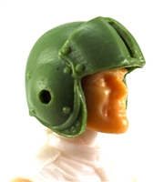 "Headgear: LIGHT GREEN Flight Helmet - 1:18 Scale Modular MTF Accessory for 3-3/4"" Action Figures"