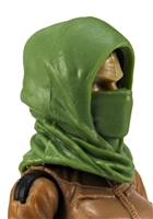 "Headgear: Hood LIGHT GREEN Version - 1:18 Scale Modular MTF Accessory for 3-3/4"" Action Figures"