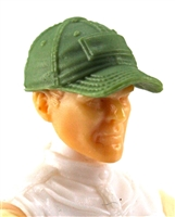 "Headgear: Baseball Cap LIGHT GREEN Version - 1:18 Scale Modular MTF Accessory for 3-3/4"" Action Figures"