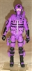"1 (ONE) DELUXE MTF Male Trooper PURPLE ""Engineer-Ops"" Version - 1:18 Scale Marauder Task Force Action Figure"