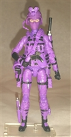 "1 (ONE) DELUXE MTF Female Valkyries PURPLE ""Engineer-Ops"" Version - 1:18 Scale Marauder Task Force Action Figure"