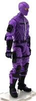 "MTF Male Trooper with Balaclava Head PURPLE & Black ""Engineer-Ops"" Version BASIC - 1:18 Scale Marauder Task Force Action Figure"