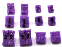 "Pouch & Pocket Deluxe Modular Set: PURPLE Version - 1:18 Scale Modular MTF Accessories for 3-3/4"" Action Figures"