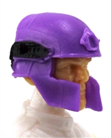 "Headgear: Tactical Helmet PURPLE & Black Version - 1:18 Scale Modular MTF Accessory for 3-3/4"" Action Figures"