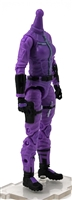 "MTF Female Valkyries Body WITHOUT Head PURPLE with BLACK ""Engineer-Ops"" Version BASIC - 1:18 Scale Marauder Task Force Action Figure"