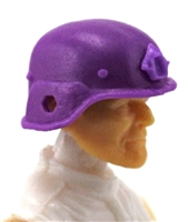 "Headgear: LWH Combat Helmet PURPLE Version - 1:18 Scale Modular MTF Accessory for 3-3/4"" Action Figures"