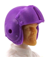 "Headgear: PURPLE Flight Helmet - 1:18 Scale Modular MTF Accessory for 3-3/4"" Action Figures"