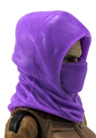 "Headgear: Hood PURPLE Version - 1:18 Scale Modular MTF Accessory for 3-3/4"" Action Figures"